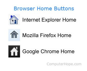 Browser home buttons