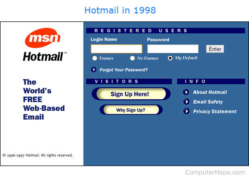 What is a hotmail in february of 2013 microsoft announced it would be moving away from the hotmail brand and that it will start to move its more than 300 million users to stopboris Choice Image