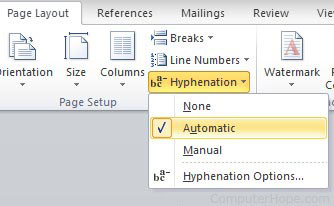 Hyphenation in Microsoft Word