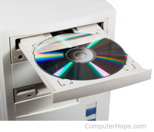 CD-ROM drive running in MS-DOS...