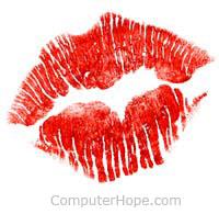 Kiss muah or mwah