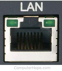 LAN port / Ethernet port