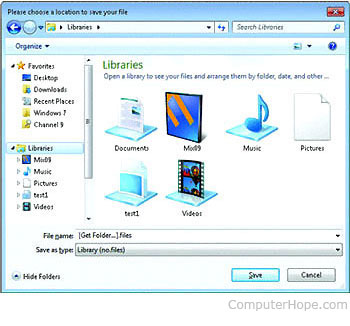How do I add a Library to Windows 7?