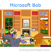Microsoft Bob home screen