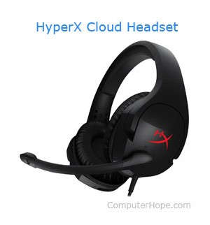 HyperX Cloud headset with microphone
