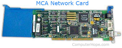MCA or Micro Channel Architecture network card