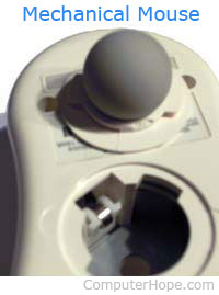 Computer mouse with ball removed