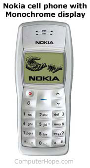 Nokia phone with Monochrome display