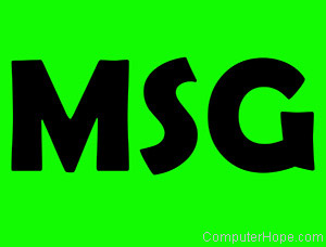 msg definition