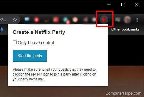 Netflix party start