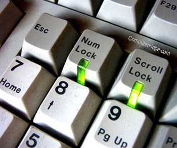Num Lock and Scroll Lock keyboard keys