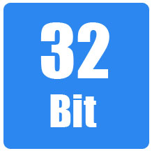 An image that says 32-bit.