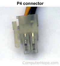 P4 power connector