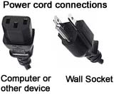 Monitor power cord