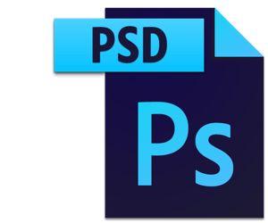 Icono de archivo PSD
