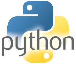 Logo: The Python programming language.
