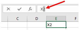 Highlight characters to create superscript in Microsoft Excel