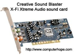 Computer sound card