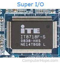 Super I/O (SIO) IC on computer motherboard