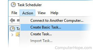 how to create a task in task scheduler