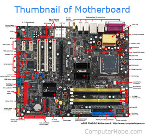 Thumbnail of computer motherboard