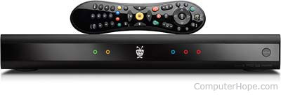 TiVo DVR box with remote