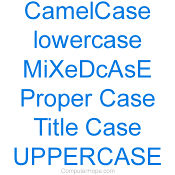 How to change between lowercase and uppercase