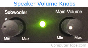 Speaker volume controls