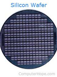 Silicon chip picture
