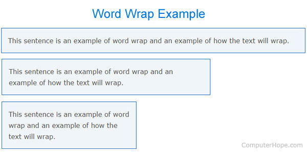 Definition Of Wrapped >> What is Word Wrap?