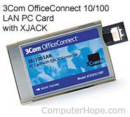 3Com network card with XJACK connector