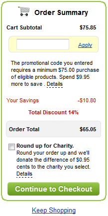 Coupon and promo code