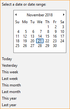 Find files by date modified in Windows