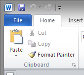 Format painter in Windows 2010