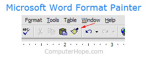 Microsoft Word Format Painter
