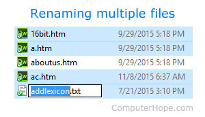 How to quickly rename multiple files in Windows picture