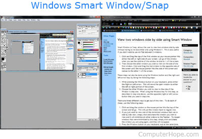 Windows 7 Smart Window